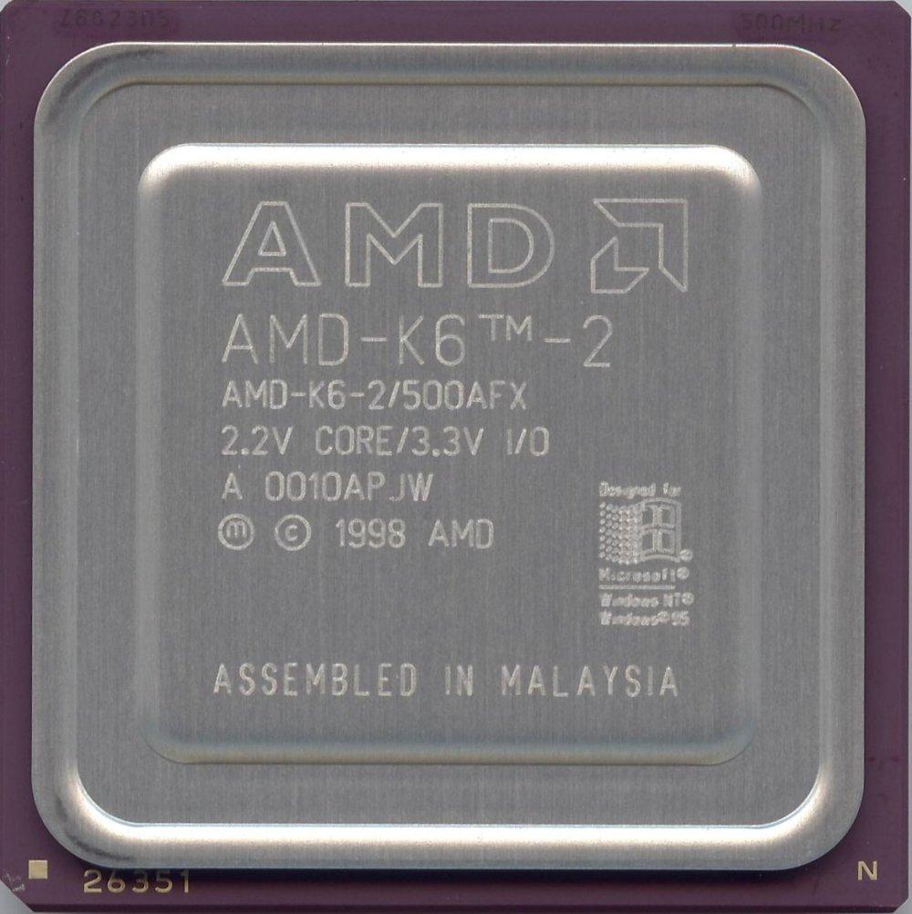 CPUs: AMD-K6-2/500AFX